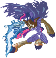 Twilight Sparkle Raziel Vector (Alpha Channel) by ziomal1987