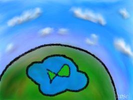 Greenfish Painter Globe by dwsel