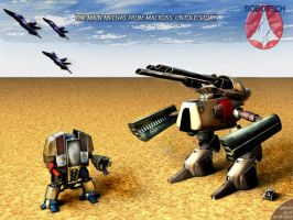 Robotech Mechas by Bamboo-Learning