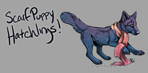 Scarf Puppy Hatchlings! [Egg #5] by CoyoteAdopts