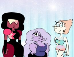 Garnet, Amethyst and Pearl by Cookie-Lovey