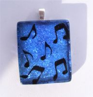 Music Note Fused Glass by FusedElegance