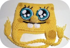 Custom Spongebob SquarePants beanie by AAMurray