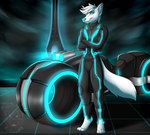 Commission: Asuki in Tron by Blitzy-Arts