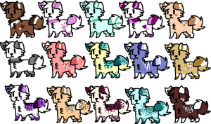 Doggies adopts by XxAdoptxX