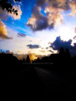 Clouds above street by watsup223