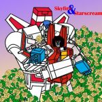 skyfire and starscream by shiningthunder