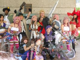 A-kon 23 Final Fantasy Group Photo by Kristeekins