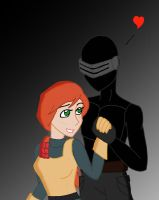 Snake Eyes and Scarlett by Dragon-Wing-Z