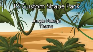 Jungle Foliage Custom Shapes by Sed-rah-Stock