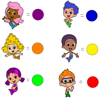 Bubble Guppies color coded by Blueelephant7