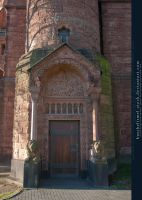 Church Side Entrance by kuschelirmel-stock