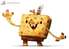 Daily Painting 893# SpongeBob Rectangle Pants by Cryptid-Creations