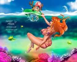 Nami and Chopper by SweetPrank