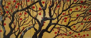 Crimson-Blossoms-On-Tangled-Branches by ModernArtist123