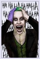 Jared Leto as The Joker: Subtle Edition by Jo7a