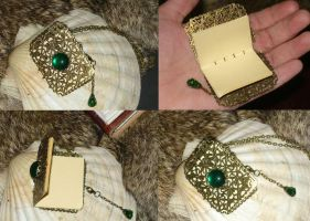 Emerald Spellbook - Necklace II by Ganjamira