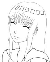 Hinata Lineart by ztrickfy