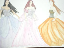 Flower Diva gowns by Selinelle