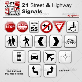 21 Street and Highway Signals by agodesa