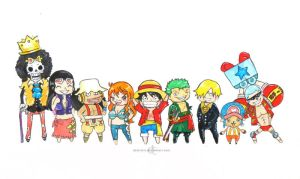 The Straw Hat Pirates by demeters