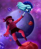 Ruby And Sapphire - Steven Universe by Razzlicat