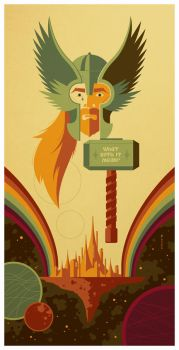 double rainbow bridge poster by strongstuff