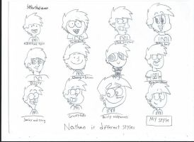 Nathan in different cartoon style by stevostorti