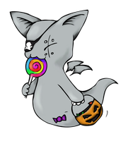 Zombat: Trick or Treat! by Coffin-Rabbit