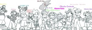Silver the Magician Lineup WIP by AllHailWeegee