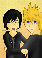Roxas and Xion by Kirvaja