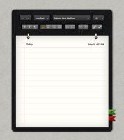 Notepad Template by freebiesgallery