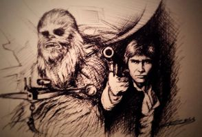 Chewie and Han by ROSSJCBR