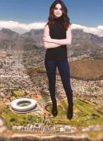 Giantess Selena Gomez in Cape Town by MShrinker