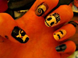 Halloween nails: NBC by patchworkz