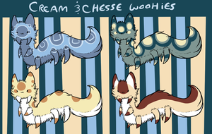 Cream and Cheese Wooshies by weweameme