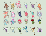 Adoptable Auction Batch 04 (OPEN) by PixyPersephone