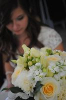 Bride and her Bouquet by marlirae