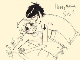 Happy Birrrthday Stu by Shino-Art