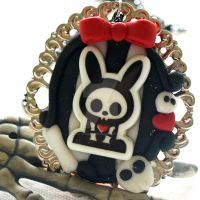 Skelebunny Clay Cameo by AndyGlamasaurus