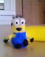 Needle Felted Minion by superpsyduck