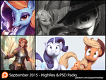 September Patron Packs - HighRes and PSD by AssasinMonkey