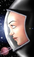 Space woman by pandracchio