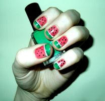 Watermelon Nails by RoxysSlushPuppie