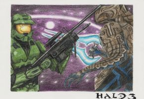 Master Chief and the Arbiter by Sgt-Spaz