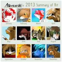 Summary of art 2013 by Aguawolf