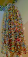 3,000 Paper Cranes WIP - FINISHED :) by Singing-Wolf-12