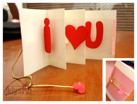 Card: I heart U by kiyary