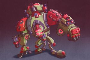Walking Tank by MichelVerdu