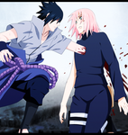 Naruto 693 - Sasuke and Sakura by S-I-M-C-A